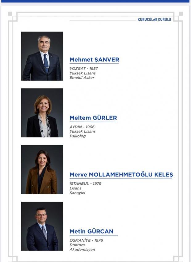 Ali Babacan'ın partisinin kurucular listesinde yer alan bazı isimler.