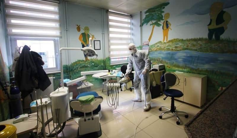 Son dakika haberi - Türkiye geneli kamu kurumlarında koronavirüs tedbirleri kapsamında dezenfekte yapıldı.