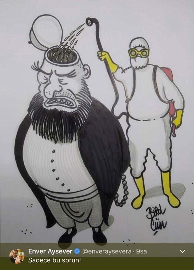 Alişan, Enver Ayseverin dini aşağılayıcı karikatür paylaşımına tepki gösterdi..
