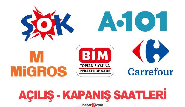 A101, ŞOK, Migros, BİM, Carrefour saat kaçta açılıp kaçta kapanıyor? 1