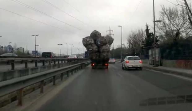 Bu kamyon görenleri şaşkına çevirdi