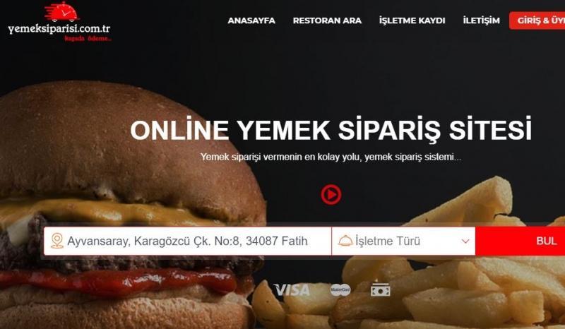 Yemek sipariş sitesi