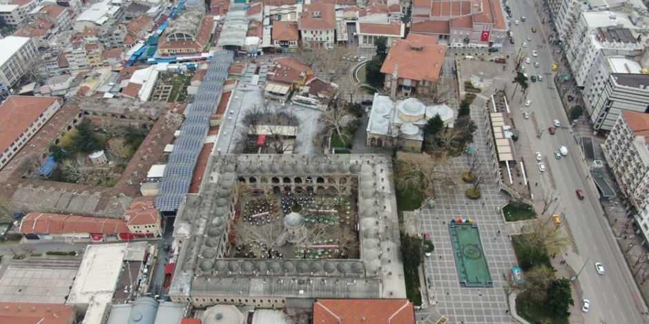 Bursa'nın tarihi bölgeleri havadan görüntülendi