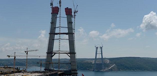3. Boğaz Köprüsü'nün inşaatında büyük aşama