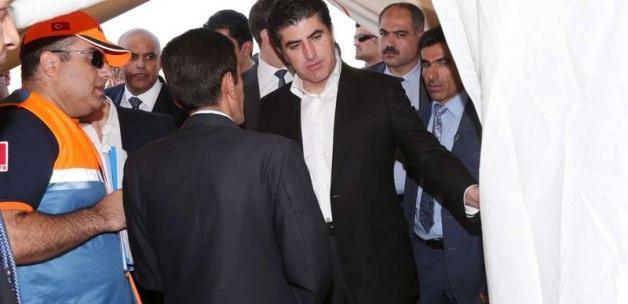 Barzani, AFAD'ın kampını ziyaret etti