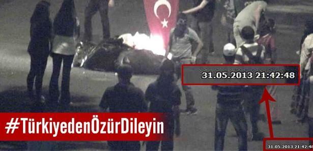 Bayrak yakmanın Ankara'da gerçekleştiğinin kanıtı