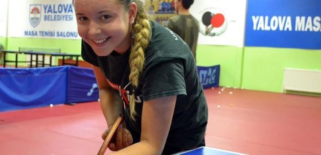 İngiliz milli masa tenisçi, Yalova'da antrenman yapıyor