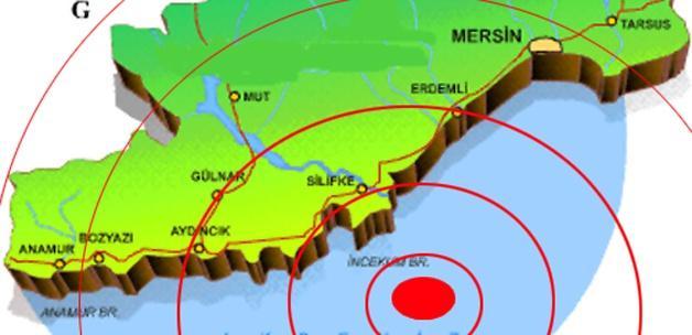 Mersin'de 4,5 büyüklüğünde deprem