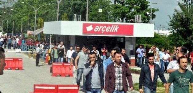 Otomotivdeki eylemler Arçelik'e de sıçradı