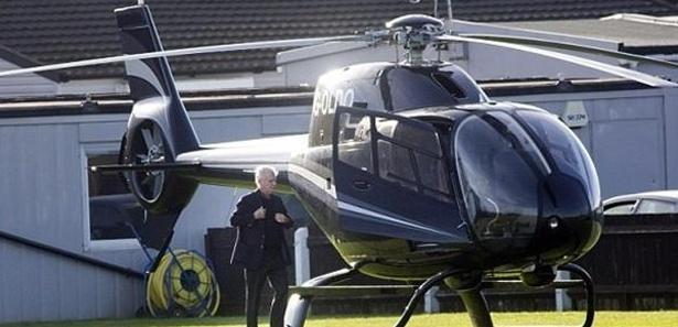 Sahaya helikopterle indi