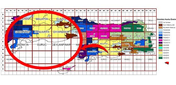 Suriye sınırı haritada boş kaldı