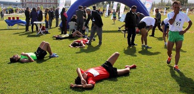Erzurum'da bayıltan yarış