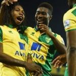 Norwich City'li Mbokani saldırı anında oradaydı