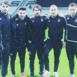 Beşiktaşlı futbolcular Arena'ya ayak bastı