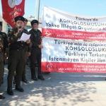 Sakarya'da konsoloslar protesto edildi