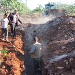 Gaziantep'te tahliye suyunun fıstık ağaçlarını kurutması