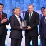 Toyota ödülü Erdoğan'dan aldı