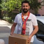 Galatasaray taraftar grubu 100 aileye ramazan yardımı yaptı