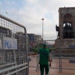 Taksim'de LGBTİ önlemi! Bariyerlerle kapatıldı