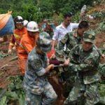 Çin'de heyelan: 35 ölü