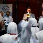 İzmir'de hac kafilesine uğurlama