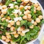 Nohutlu Ispanak Salatası tarifi