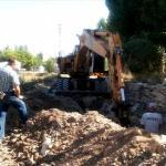 Seydişehir'de kanalizasyon çalışması