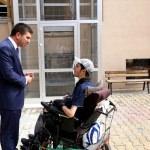 Burdur Belediyesinden engelli asansörü