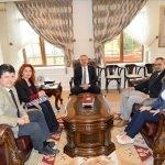 Edirne Valisi Özdemir'in kabulü