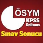 KPSS Önlisans sınav sonucu son dakika açıklaması (ÖSYM)