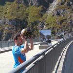 180 metre yükseklikten basket attı!