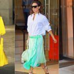 Renkli kombinlerin yıldızı: Victoria Beckham
