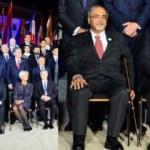 Sapin çoraplarıyla aile fotoğrafına renk kattı