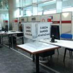 Atatürk Havalimanı'nda seçim sandıkları konuldu