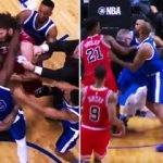 NBA'de skandal gece! Yumruklar havada uçtu