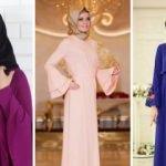 Tesettürlü kadınların en şık hali: Volan elbiseler