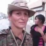 YPG'ye katılan manken Kobani'de görüldü