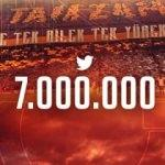 Galatasaray Twitter'da 7 milyona ulaştı!