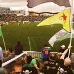 Skandal olay! Maçta YPG bayrağı salladılar