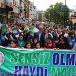 Çaykur Rizespor'a destek yürüyüşü!
