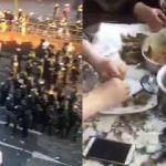 Halk polisle çatışırken sarma saran Türk teyzeler