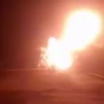 TIR'a çarpan yakıt tankeri böyle patladı!