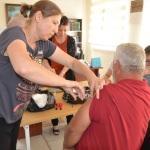 Kırklareli'de hacı adaylarına aşı yapıldı