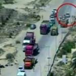 Mısır'da bomba yüklü aracın patlaması kamerada!