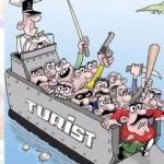 Skandal karikatür! Yavru vatan ayakta