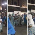 Medine'ye gelen Afrikalı hacı adaylarının sevinci