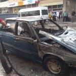 Osmaniye'de seyir halindeki araçta yangın çıktı