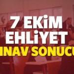 7 Ekim Ehliyet sınav sonuçları açıklandı mı? (MEB) sınav sonuç ekranı