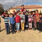 Jandarmanın köy okullarını ziyareti