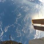 Aksiyon kamerasıyla uzayda çekim yaptı!